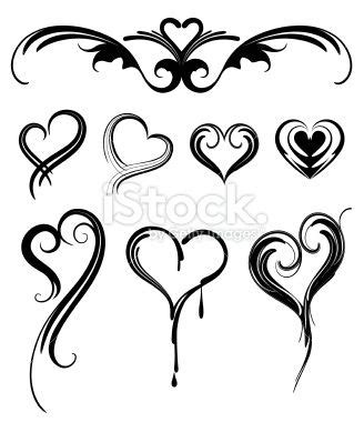 small tribal heart tattoos simple designs tribal designs