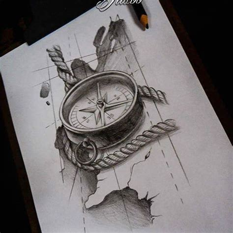 compass tattoo sketch image result for compass and map flash nautical black