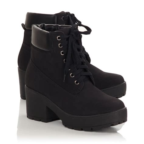 womens boots womens black lace up ankle boots