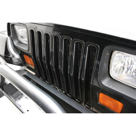 rugged ridge black grille inserts all things jeep black trim grille inserts by rugged ridge for jeep wrangler yj 1987 1995