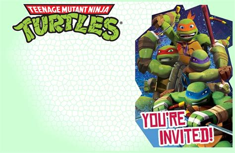 printable ninja turtle invitation template editable ninja turtle invitation template free printable
