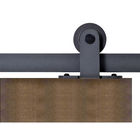 Calhome Top Mount 72 In Matte Black Barn Style Sliding Barn Door Tracking Mount