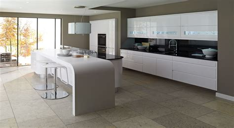 kitchen collections com remo handleless lacquered gloss white