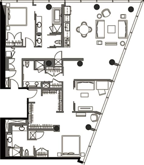 veer towers floor plans two bedroom floor plan v2b 14 187 veer towers 187 citycenter