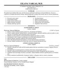 best doctor resume exle livecareer