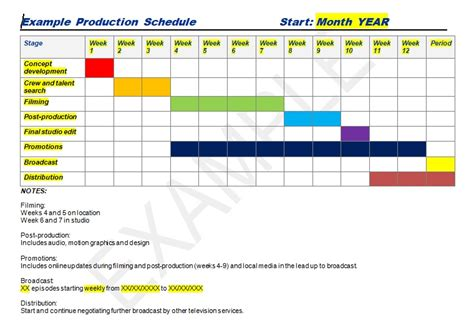 manufacturing schedule template production schedule template excel word excel tmp
