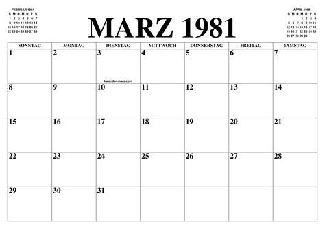kalender marz  marz kalender zum ausdrucken gratis monat und jahr agenda