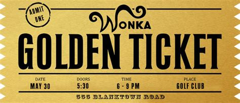golden ticket photoshop template by davodavito on deviantart