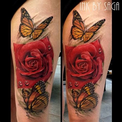 rose butterfly tattoo 25 best ideas about and butterfly on