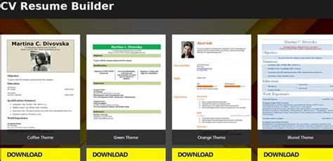 Free Resume App by Resume Template App Talktomartyb