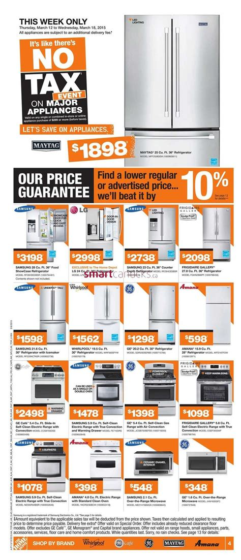 home depot on flyer march 12 to 18