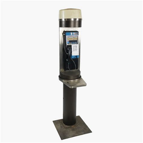 Telephone Pedestal pay phone pedestal column w shelf gray air designs