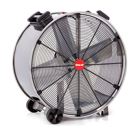 max air 24 inch fan shop air stainless steel wide heavy duty drum fans