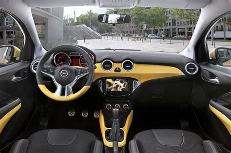 opel adam interior roof opel adam review test drives atthelights com