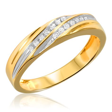 3 In 1 Rings 1 3 carat t w bridal wedding ring set 10k yellow gold my trio rings br519y10k