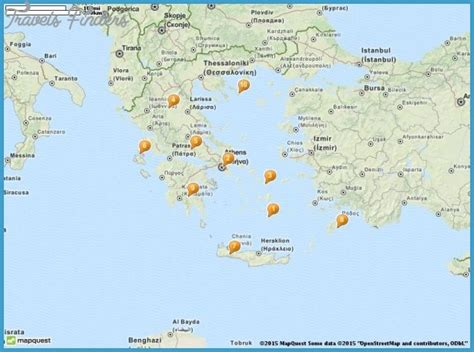 map of tourist attractions in greece map tourist attractions travelsfinders