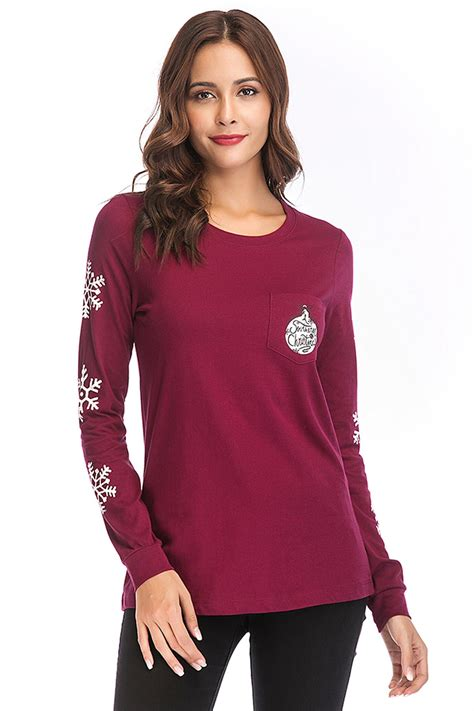 Sleeve Printed Knit Top sleeve printed front knit top fashion flash