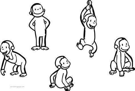 five monkeys coloring page view preview five little monkeys colouring five monkeys