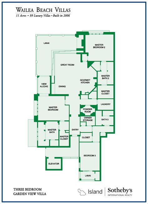 Luxury Penthouse Floor Plans Wailea Beach Villas For Sale 8 Condos Average 3 3m