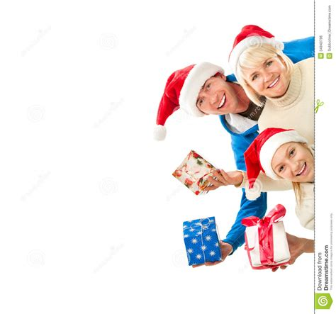 christmas family with gifts stock photo image 34940796