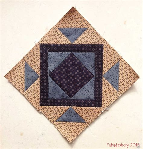 Miniature Quilt Blocks by Fabadashery Miniature Block Of The Month August 2015