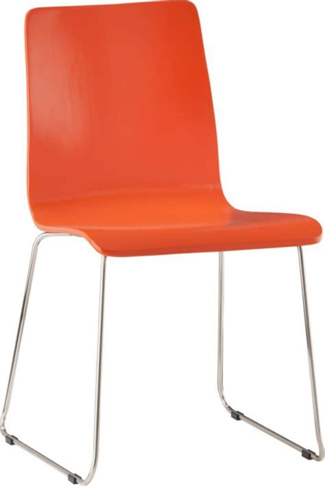 Orange Chair nice bright pop of color echo orange chair in dining