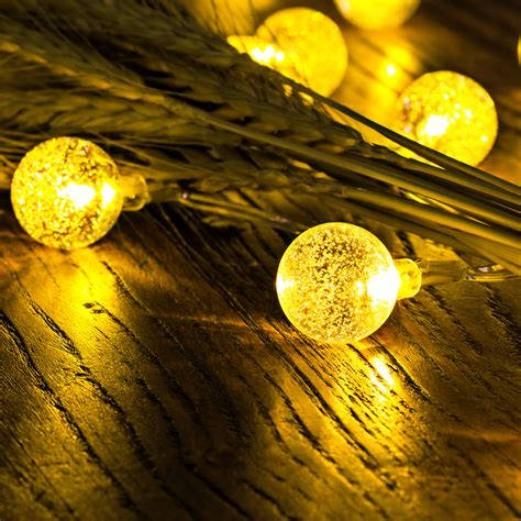 50 led solar outdoor string lights globe string fairy