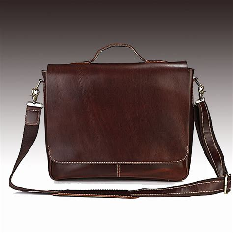 Handmade Leather Laptop Bags - handmade leather briefcase leather messenger bag 13
