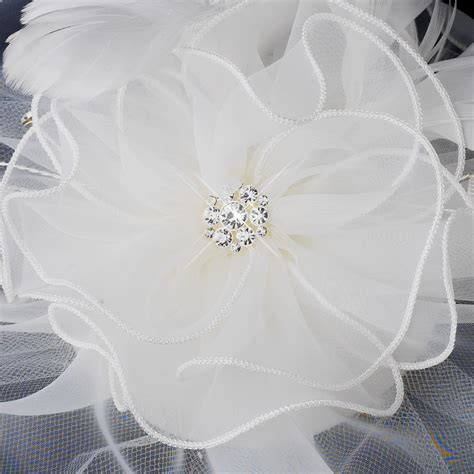Flowery Organza organza flower fascinator hair bridal hair
