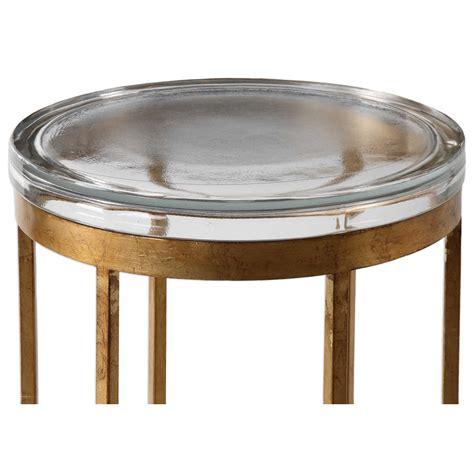 bright colored accent tables uttermost accent furniture 24776 allura gold accent table