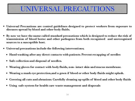 recommendations and universal precautions for the prevention of hiv presentation pdf copy