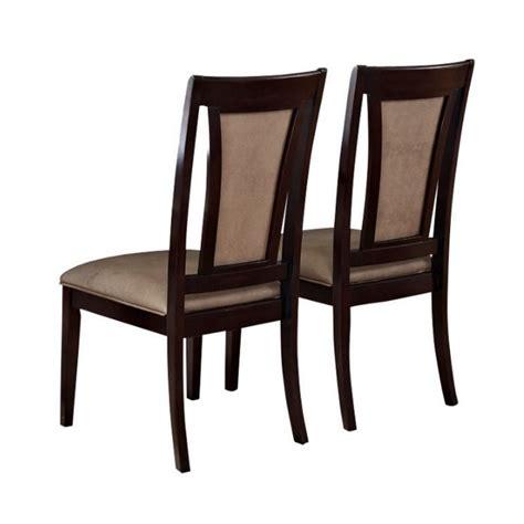 Vinyl Dining Chairs Steve Silver Company Wilson Vinyl Dining Chair In Merlot Cherry Wl500s