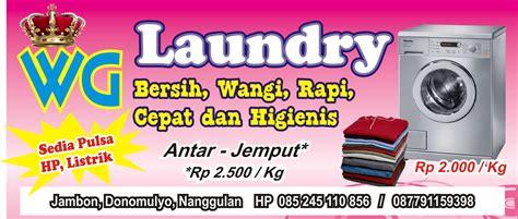 desain kartu nama laundry contoh banner laundry contoh u