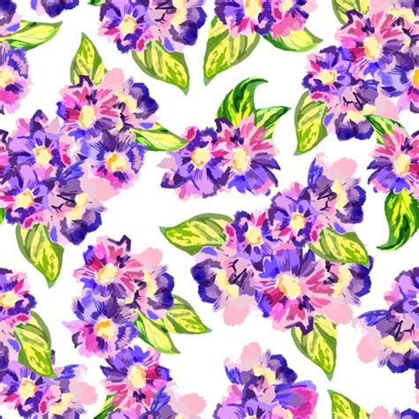 watercolor floral pattern vector free download beautiful watercolor flower pattern seamless vector 02