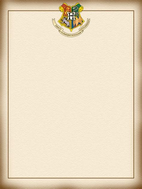 Harry Potter Acceptance Letter Size hogwarts letter harry potter project journal card