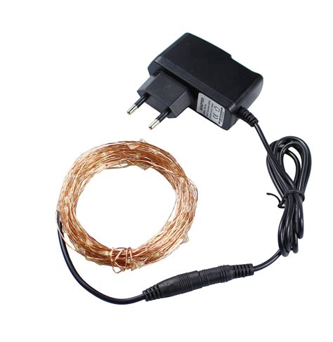 christmas lights 8 colors 10m 100 led copper wire led