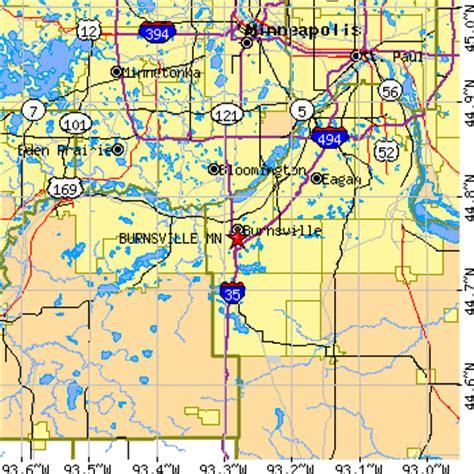 zip code map eagan mn burnsville minnesota mn population data races