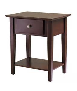 winsome shaker night stand with drawer by oj commerce ellsworth espresso tall 2 drawer night stand free