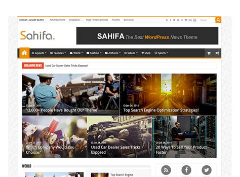 sahifa theme full width wordpress themes plugins provided by tielabs