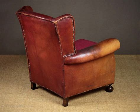 red leather armchairs red leather armchair c 1910 antiques atlas