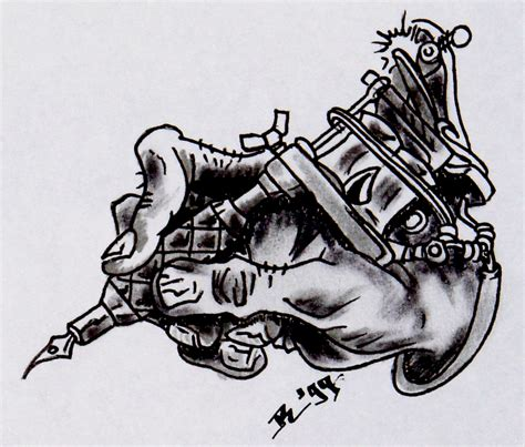 tattoo gun drawing design machine