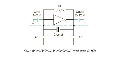 microcontroller oscillator load capacitance again electrical engineering stack exchange