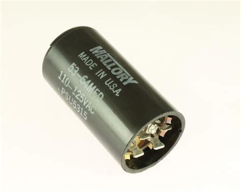 mallory capacitor 110vac psu5315 mallory capacitor 53uf 110v application motor start 2020063313