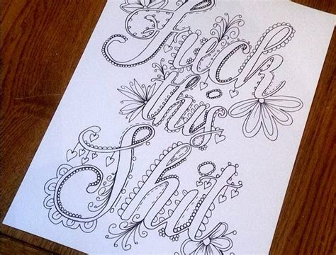 learn curse words and vulgar expressions books this new coloring book is made entirely of swear words