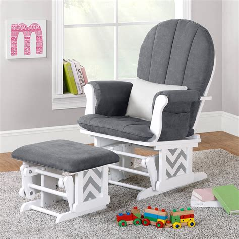 baby room gliders dorel hoop back chevron glider rocker and ottoman set at hayneedle