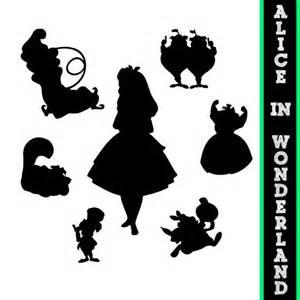 alice in wonderland silhouettes disney princess alice