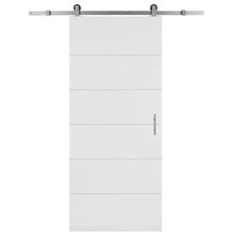Interior Barn Door Hardware Home Depot by Masonite 36 In X 84 In Melrose Solid Core Primed