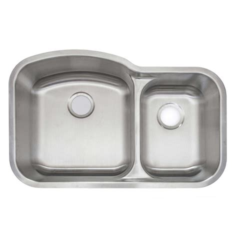 glacier bay aio undermount stainless steel 32 in double