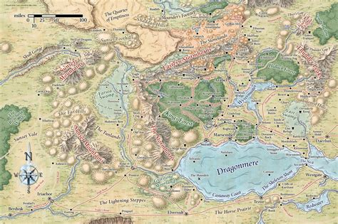 map of faerun mike schley forgotten realms regional maps