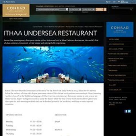 ithaa undersea restaurant prices japan and asia pearltrees